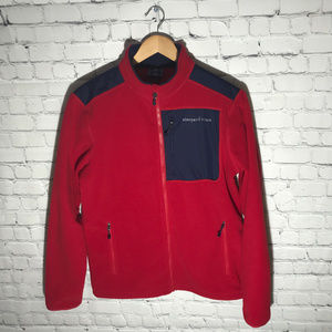 Vineyard Vines Red and Blue Fleece, Mens Small